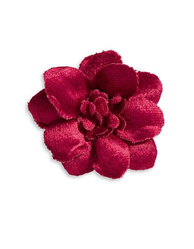 Hook + Albert Velvet Lapel Flower-BROWN-One Size