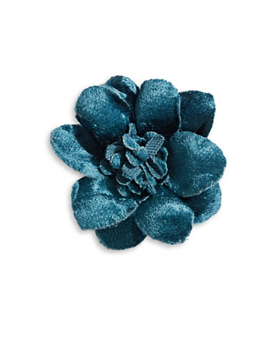 Hook + Albert Velvet Lapel Flower-NAVY-One Size