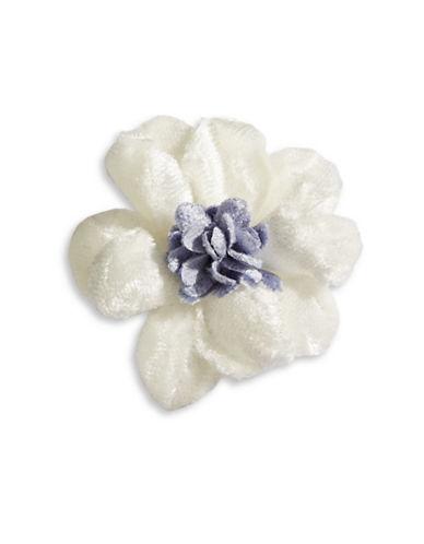 Hook + Albert Velvet Lapel Flower-WHITE-One Size