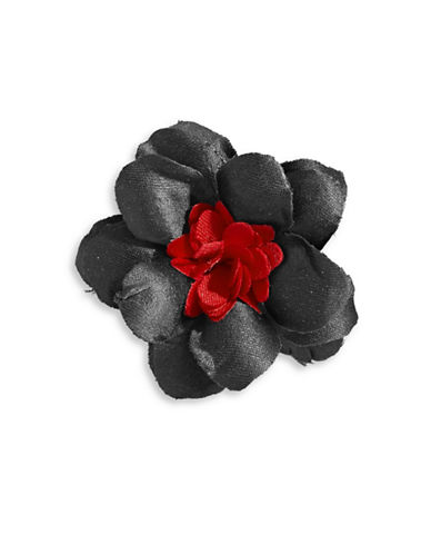 Hook + Albert Brayden Satin Lapel Flower-BLACK-One Size