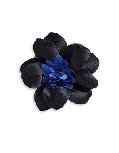 Hook + Albert Evan Satin Lapel Flower-NAVY-One Size