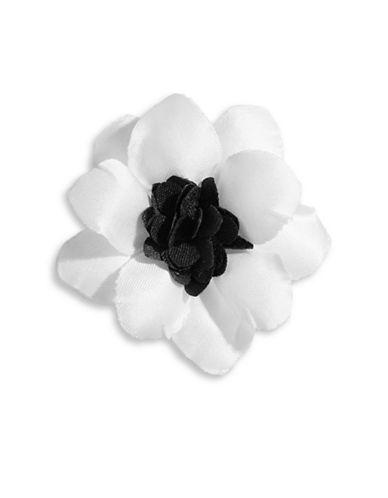 Hook + Albert Henry Satin Lapel Flower-WHITE-One Size