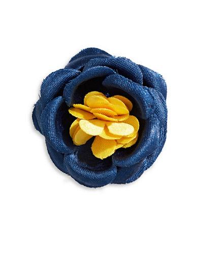 Hook + Albert Oski Satin Lapel Flower-NAVY-One Size