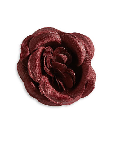Hook + Albert Large Satin Lapel Flower-BROWN-One Size