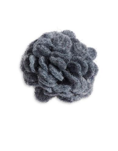 Hook + Albert Hina Felt Lapel Flower-GREY-One Size