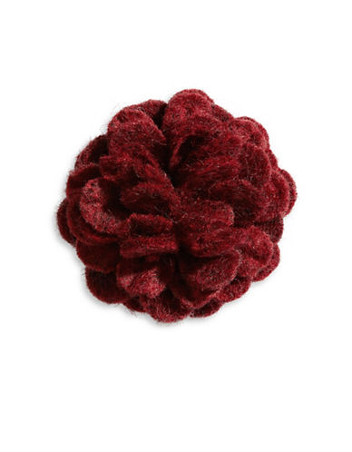 Hook + Albert Aka Felt Lapel Flower-BROWN-One Size