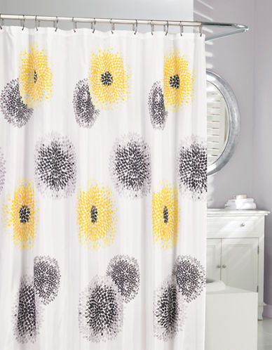Moda Blossom Fabric Shower Curtain-YELLOW-One Size