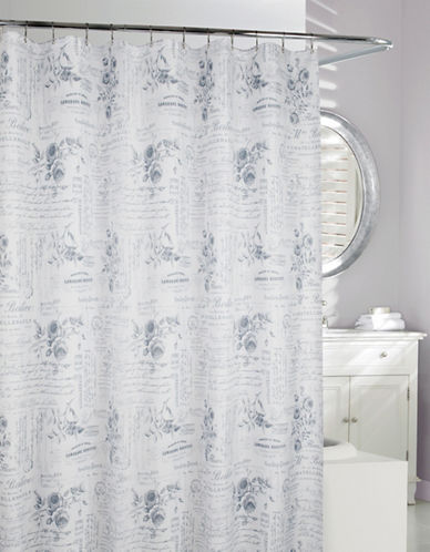 Moda Enchanted Shower Curtain-GREY-One Size