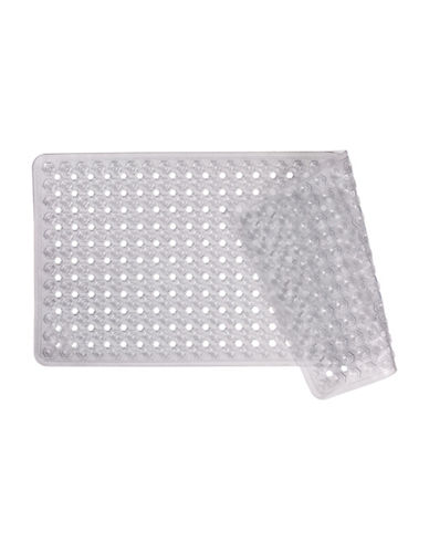 Distinctly Home Oversized Hexagon Tub Mat-CLEAR-One Size