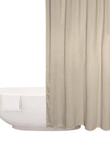 Distinctly Home Chevron Shower Curtain-TAUPE-One Size