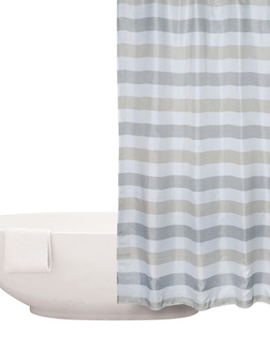 Distinctly Home Herringbone Stripe Shower Curtain-GREY-One Size