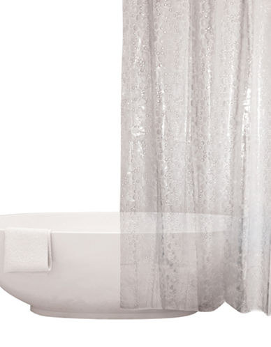 Distinctly Home Frosted Bubbles Shower Curtain-CLEAR-One Size