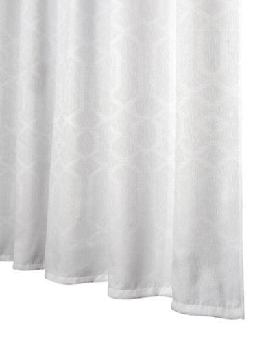 Glucksteinhome Geo Shower Curtain-WHITE-One Size