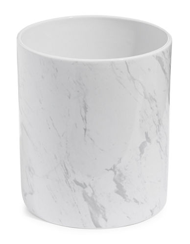 Distinctly Home Ceramic Marble-Look Wastebasket-MARBLE-One Size