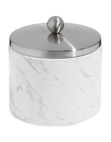 Distinctly Home Ceramic Marble-Look Cotton Jar-MARBLE-One Size