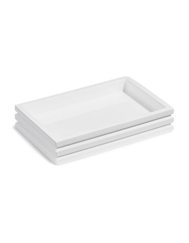 Distinctly Home Stacked Soap Dish-WHITE-One Size