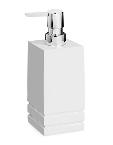 Distinctly Home Linear Resin Lotion Pump-WHITE-One Size