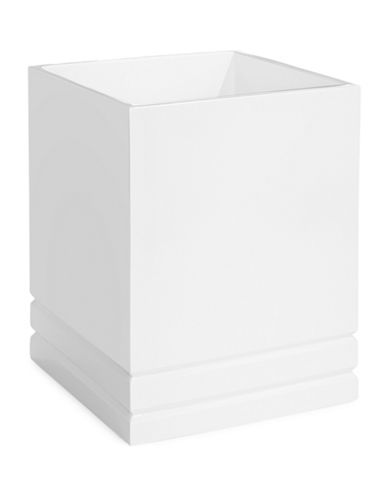 Distinctly Home Linear Resin Wastebasket-WHITE-One Size