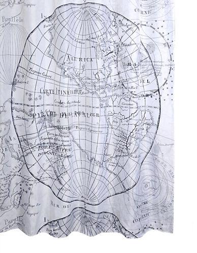 Vintage World Globe Shower Curtain | Hudson\'s Bay