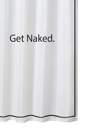 Home Studio Get Naked Shower Curtain-WHITE/BLACK-One Size