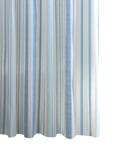 Home Studio Vertical Distress Stripe Shower Curtain-BLUE/TAUPE-One Size