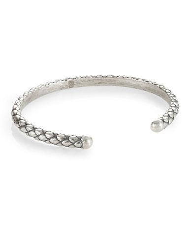 Degs And Sal Stealth Open Cuff Bracelet-SILVER-Medium