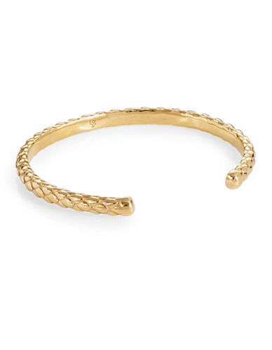 Degs And Sal Stealth Open Cuff Bracelet-GOLD-Medium