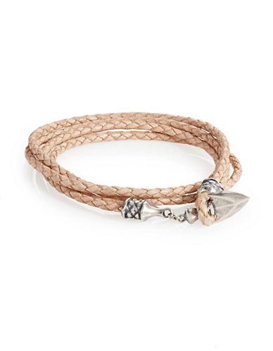 Degs And Sal Arrowhead Leather Wrap Bracelet-NATURAL-Medium