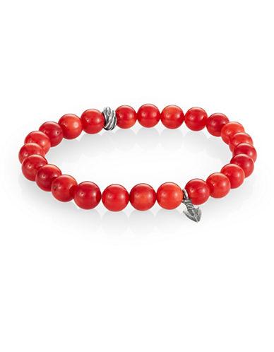 Degs And Sal Arrowhead Beaded Stretch Bracelet-RED-Medium