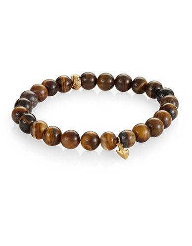 Degs And Sal Arrowhead Beaded Stretch Bracelet-TIGER EYE-Medium