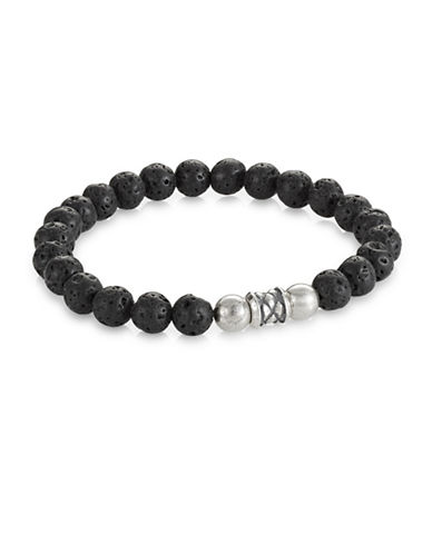 Degs And Sal Arrowhead Beaded Stretch Bracelet-BLACK-Medium