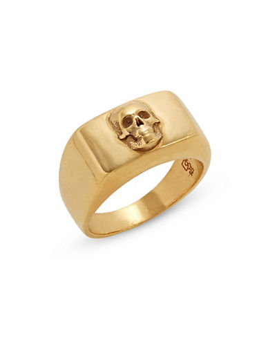 Degs And Sal Skull Flat Top Ring-GOLD-10