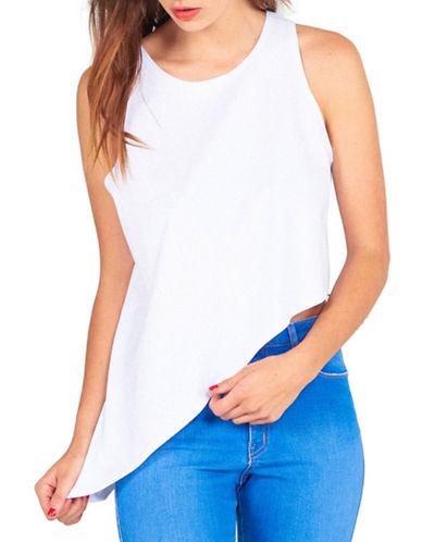 Kendall + Kylie Asymmetric Hem Tank-WHITE-Small 88374551_WHITE_Small