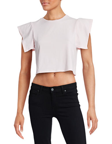 Kendall + Kylie Flutter Sleeve Tee-PURPLE-Large