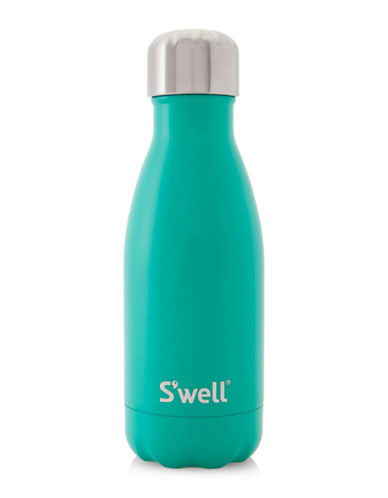 SWell Eucalyptus Satin Stainless Steel Water Bottle-BLUE-One Size