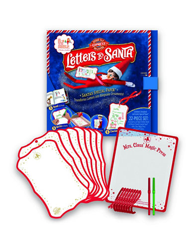 Elf On The Shelf Mrs. Claus  Magic Press and Santa s Special Paper-MULTI-One Size