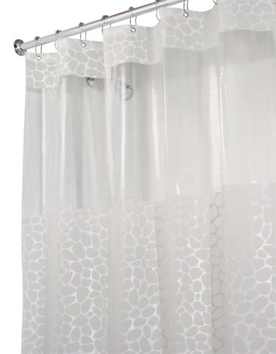 Interdesign Inc Pebblz View Stall Shower Curtain-WHITE-One Size
