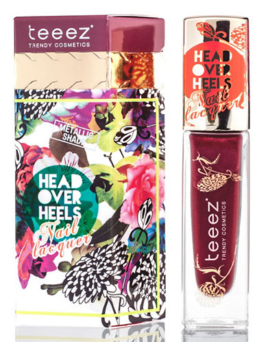 Teeez Cosmetics Head Over Heels Nail Lacquer-CARMINE CRAZE-One Size