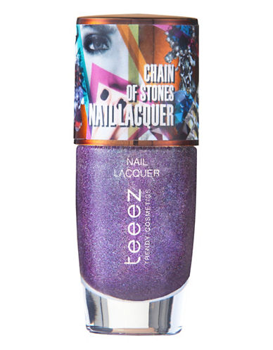 Teeez Cosmetics Chain of Stones Nail Lacquer-AMAZING AMETHYST-One Size