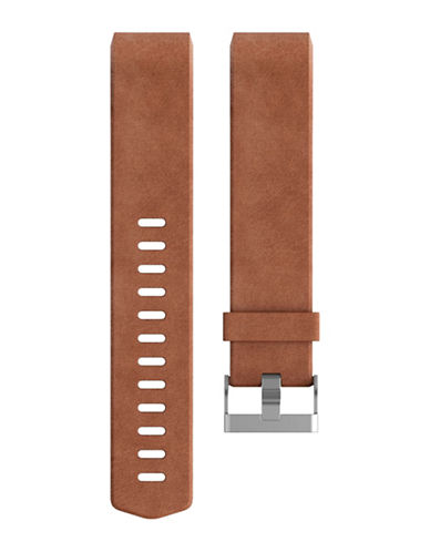 Fitbit Charge 2 Leather Band-BROWN-Large