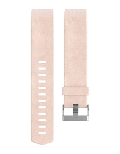 Fitbit Charge 2 Leather Band-PINK-Large