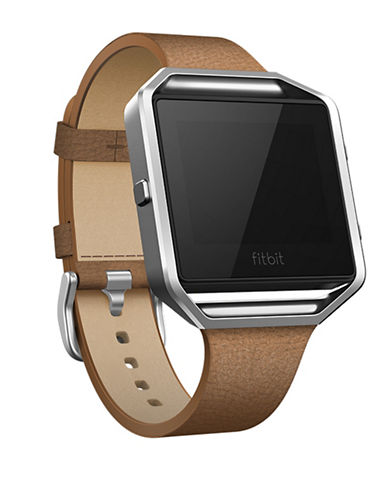 Fitbit Fitbit Blaze Leather Strap-BROWN-Large
