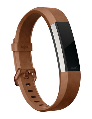 Fitbit Alta HR Leather Accessory Band-BROWN-Large