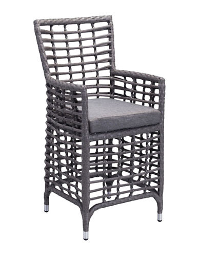 Zuo Modern Sandbanks Two-Pack Dining Chairs-GREY-One Size