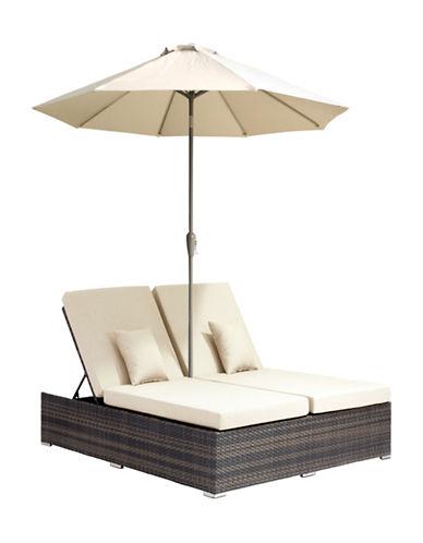 Zuo Modern Atlantic Double Sun Lounge-BEIGE-One Size 88415588_BEIGE_One Size