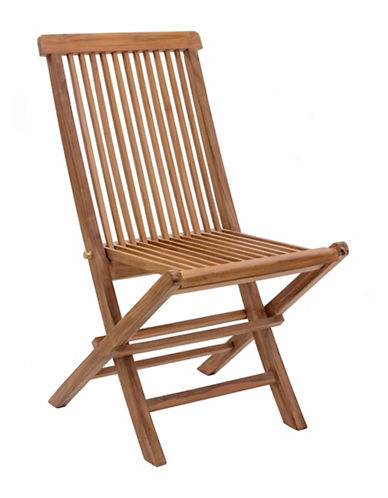 Zuo Modern Set of Two Regatta Folding Chairs-NATURAL-One Size