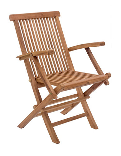 Zuo Modern Set of Two Regatta Folding Arm Chairs-NATURAL-One Size