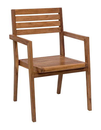 Zuo Modern Two-Pack Nautical Dining Arm Chair Set-NATURAL-One Size