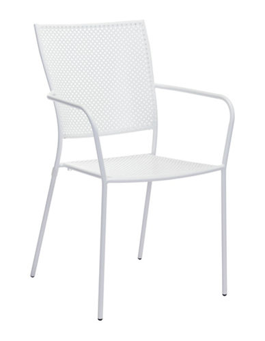 Zuo Modern Two-Pack Pom Dining Chair Set-WHITE-One Size 89134657_WHITE_One Size
