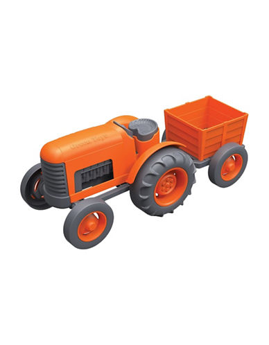 Green Toys Tractor and Trailer Set-ORANGE-One Size